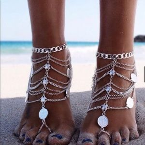 and goldfd turquoise okeanides gold female foot ankle jewelry bracelet bracelets anklet sexy